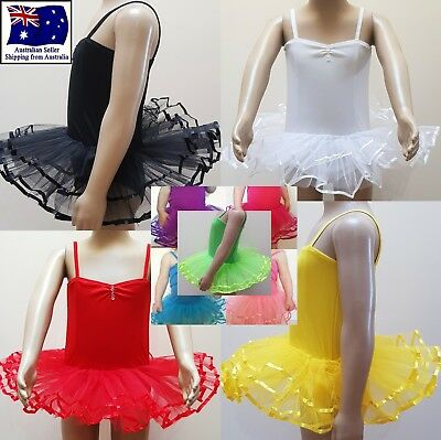 GIRLS TUTU LEOTARD BALLET COSTUME DANCE WEAR FAIRY DRESS Size 1 2 3 4 5 6 7 8 9