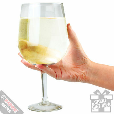 Giant Wine Glass - Party Glass Drinks. Gift for her. Novelty Bottle glass huge