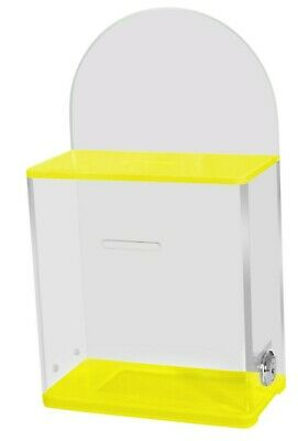 Acrylic Charity Collection Box, Fundrasing / Donation Box, With Lock 2 Key's AC3