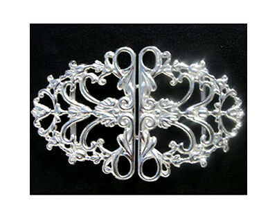 Hallmarked Solid Silver Nurses Belt Buckle.  Brand New English Silver Buckle
