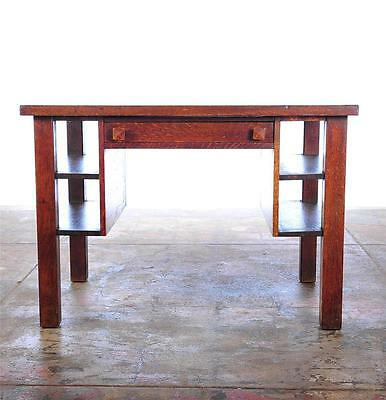 Arts & Crafts c.1908 Mission Oak Beautiful Writing Desk Table by Cadillac-Rare