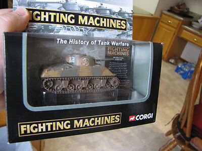 Corgi Showcase Collection Fighting Machine US m4a3 Sherman WWII 1:72 diecast