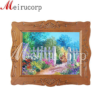 1/12 scale miniature picture&beautiful garden&for dollhouse decoration