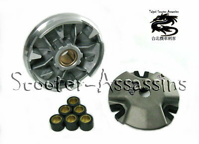 VARIATOR SET with ROLLER WEIGHTS for ADLY TB 50 Thunderbike Fox / Siver fox 50