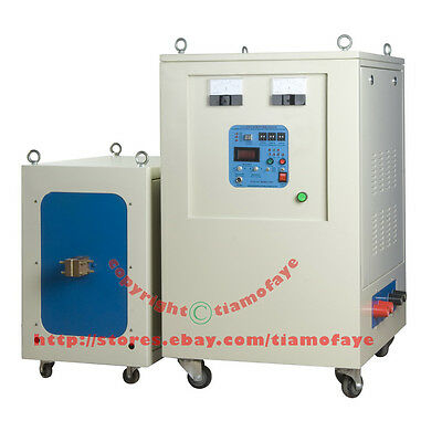 80KW 5-20KHz Dual Station Mid-Frequency Induction Heater Melter Furnace