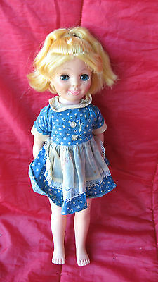 Vintage Eegee Doll Plastic doll smile face with teeth Dimples