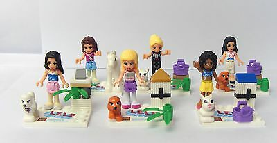 Lots 6 sets Minifigures building toys Friends(J) Series all new in  plastic bag