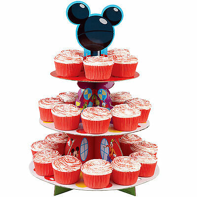 Disney Mickey Mouse Clubhouse cupcake stand birthday party boy girl dessert