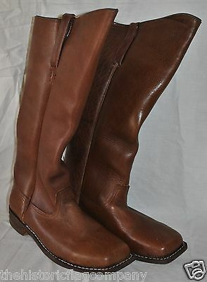 Cavalry Boots - Sizes 8-13 - Brown Leather - Special Order - 6-8 Week Delivery