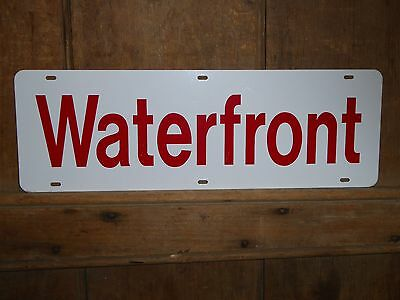 Old Rare Beach House Shore Lake River Waterfront Metal Sign Vintage Antique