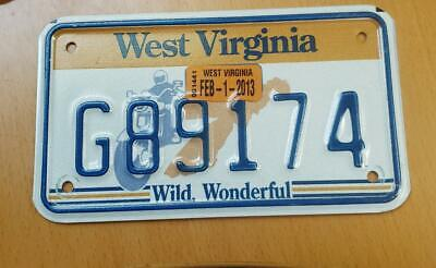 West Virginia motorcycle license plate New base graphic Harley Davidson bike tag