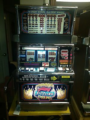 IGT S2000 Sizzling 7 Time Pay Slot Machine - Multi Denominational