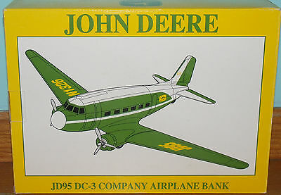 New John Deere JD95 DC-3 Company Airplane Bank SpecCast