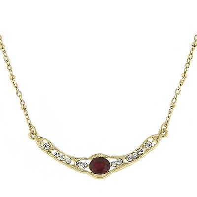 1928 Jewelry Downton Abbey © Ruby Red Jewel Gold Collar Necklace