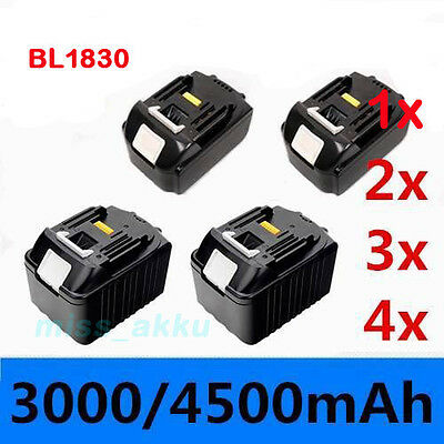 3.0Ah 4.0Ah 4.5Ah 18V Battery f. Makita BL1830 BL1815 LXT Lithium Ion Heavy Duty
