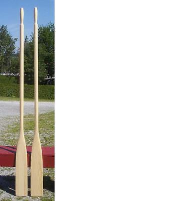 """BRAND NEW Pair WOODEN OARS 78"""" SPRUCE Paddle Boat Canoe EXCELLENT TOP QUALITY"""