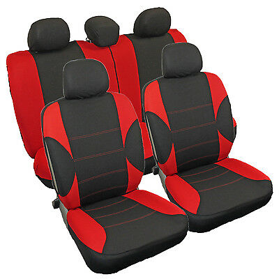Protective Car Seat Covers Protectors Universal Set Red Black