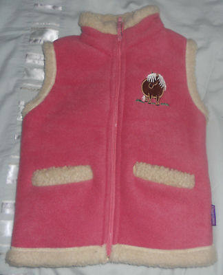 Girl's Pink Body Warmer - Embroidered Thelwell Pony Design Front and Back!