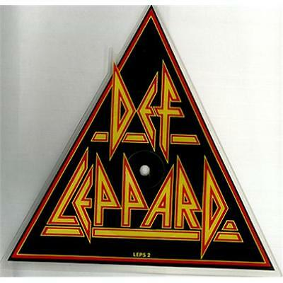 Def Leppard - Pour Some Sugar On Me UK SHAPED PICTURE DISC! (LEPS2) EX!