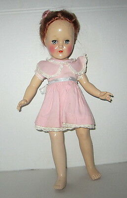 "VINTAGE IDEAL REDHEAD TONI P-90 DOLL JOINTED,SLEEP EYES,14"" TALL"