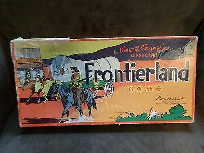 Walt Disney's Frontierland Official Board Game - Disneyana, Parker Brothers 1955