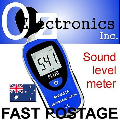 LCD Digital 30-130dB Audio Sound Noise Level Meter Decibel Monitor Brand NEW