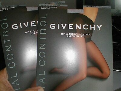 4 Givenchy Silver Fox Hip Tummy Control Gleamer Leg Pantyhose Stocking - E #546