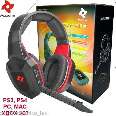 Universal Wireless Gaming Stereo Headset PS3 XBOX 360 PC XBOX ONE AUSTRALIA GD