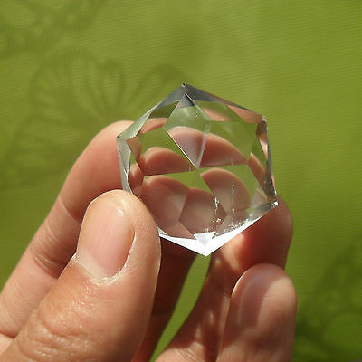 Clear Natural Quartz Crystal Star of David Carve Healing 24g 0210