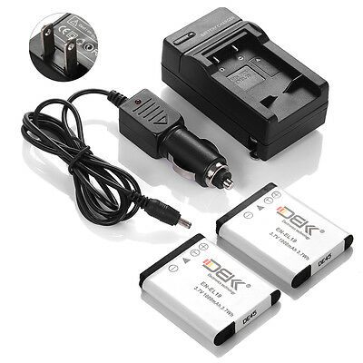 EN-EL19 Battery+Charger for Nikon Coolpix S32 S100 S3100 S3300 S3500 S4300 S6500