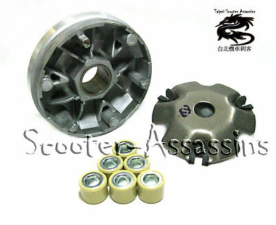 REPLACEMENT VARIATOR + ROLLERS for KYMCO Yager 50,ZX 50, Fever 50