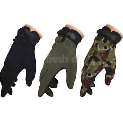 New Men Military Tactical Airsoft Shooting Hunting Full Finger Gloves 3 Size HOT