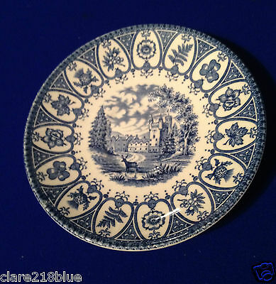 Preloved 1977 Queens Silver Jubilee Blue Broadhurst Balmoral Saucer 5.5""