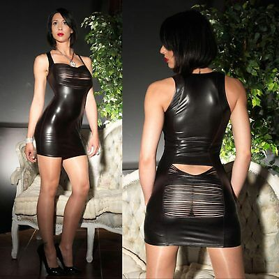 PATRICE CATANZARO Ilona Strobe Dress Wetlook Kleid GOTHIC KLEID CLUBWEAR