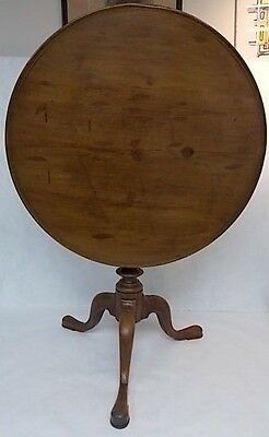 Rare 18Th C. Queen Anne English Mahogany Swivel & Tilt Top Tea Table