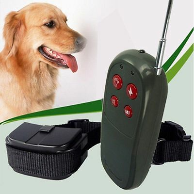 4 In 1 Remote Control Electric Shock Vibrate Pet Dog Training Collar Trainer