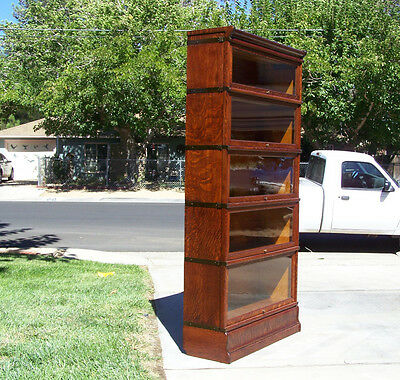 Refinished....5 stack Antique Lawyer Bookcase / Lancaster Ca.93536 / shipping OK