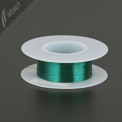 35 AWG Magnet Wire Green 625' 155C Solderable Enameled Copper Coil Winding  -SPN