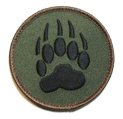 Bear Claw K9 Dog Tracker Us Military Forest Morale Velcro® Brand Fastener Patch