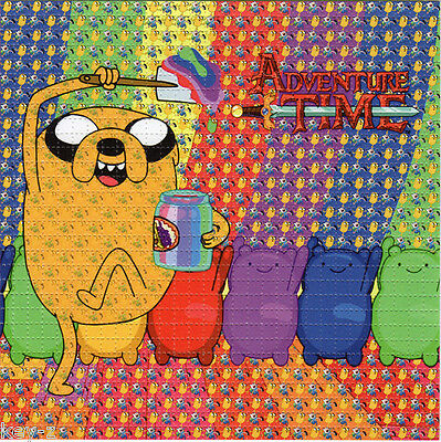 ADVENTURE TIME BLOTTER ART  psychedelic perforated LSD acid art kesey leary
