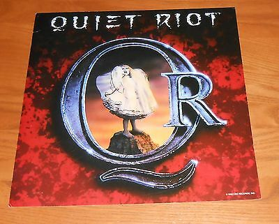 Quiet Riot Poster 2-Sided Flat Square 1988 Promo 12x12 RARE
