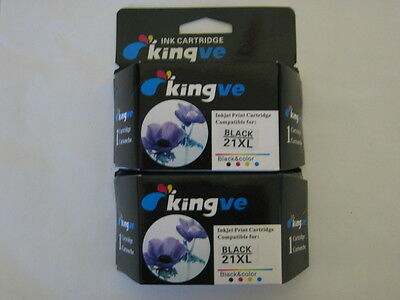 2pk Remanufactured inks for HP 21XL Cartridge fit PSC 1410 1415 D1415 F2240 HP21