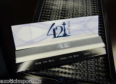 421 Cigarette Smoking Like RAW Rolling Paper Regular Size 50 Papers / 1 Pack