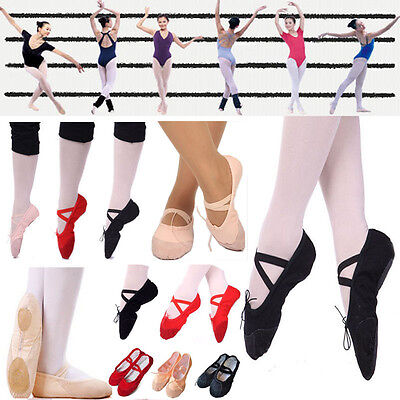 New Canvas Ballet Dance Shoes, Fitness, Gymnastics, Slippers for Kids Adult