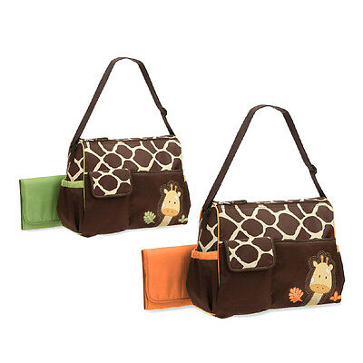 Multifunctional Baby Diaper Nappy Changing Bag Mummy Handbag Giraffe Pattern