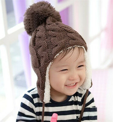1 Toddler Warm Baby Boy Girl Kids Infant Winter earmuffs Earflap Cap Hat Beanie
