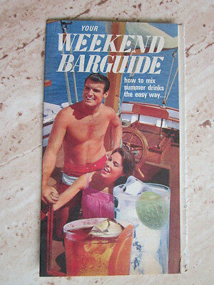 1969 Your Weekend Barguide Bartenders Bar Guide by Southern Comfort Whiskey