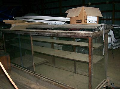 Antique Store Glass and Wood Display Counter Case