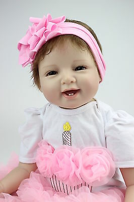 reborn baby dolls lifelike soft silicone vinyl real touch doll Christmas Gift