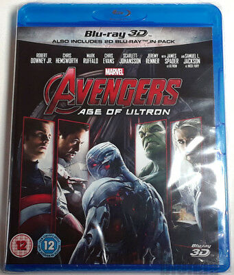 AVENGERS: AGE OF ULTRON Brand New 3D BLU-RAY (and 2D) 2-Disc Set Marvel MCU